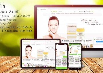 Thiết kế app bán hàng mỹ phẩm cho thương hiệu Trái Dừa Xanh