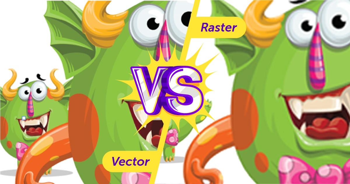 Sự khác biệt cơ bản giữa Vector và Raster