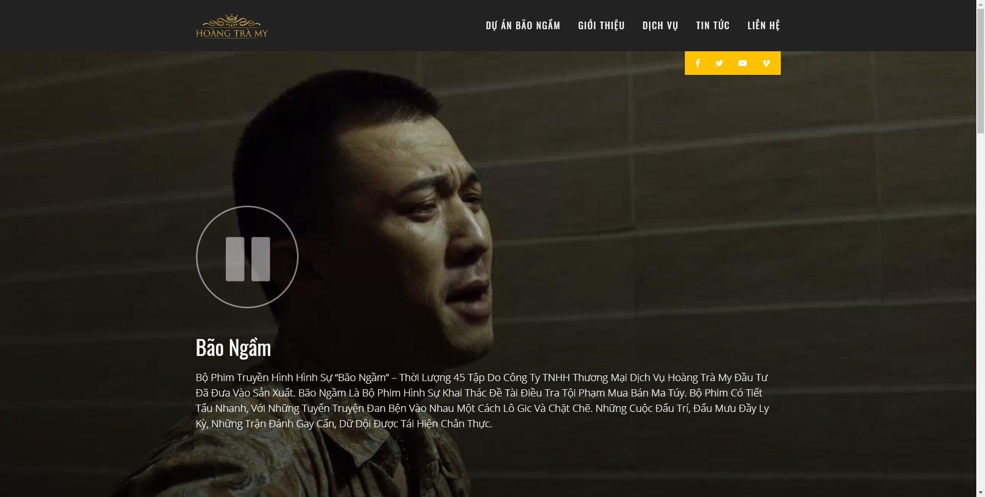 Trailer phim truyền hình Bão Ngầm trên website hoangtramy.com