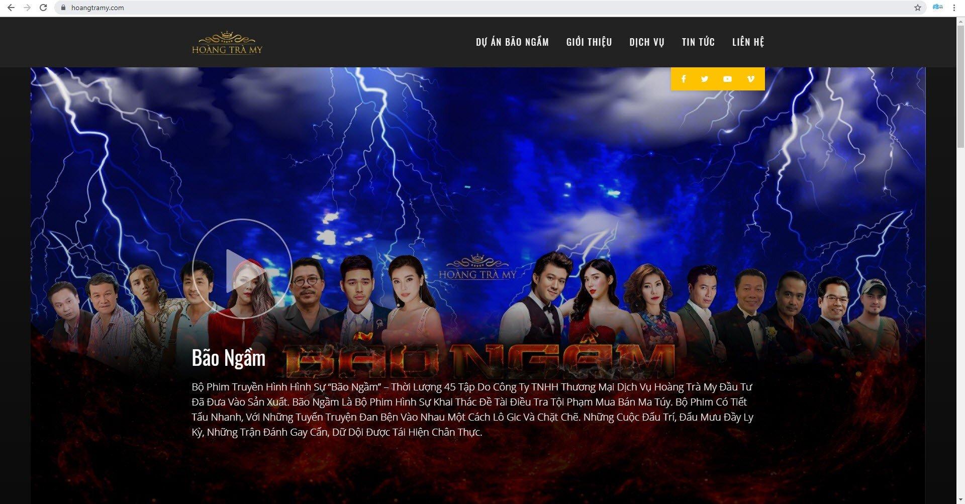 Trang Chủ Website hoangtramy.com do thietke24h.com thực hiện