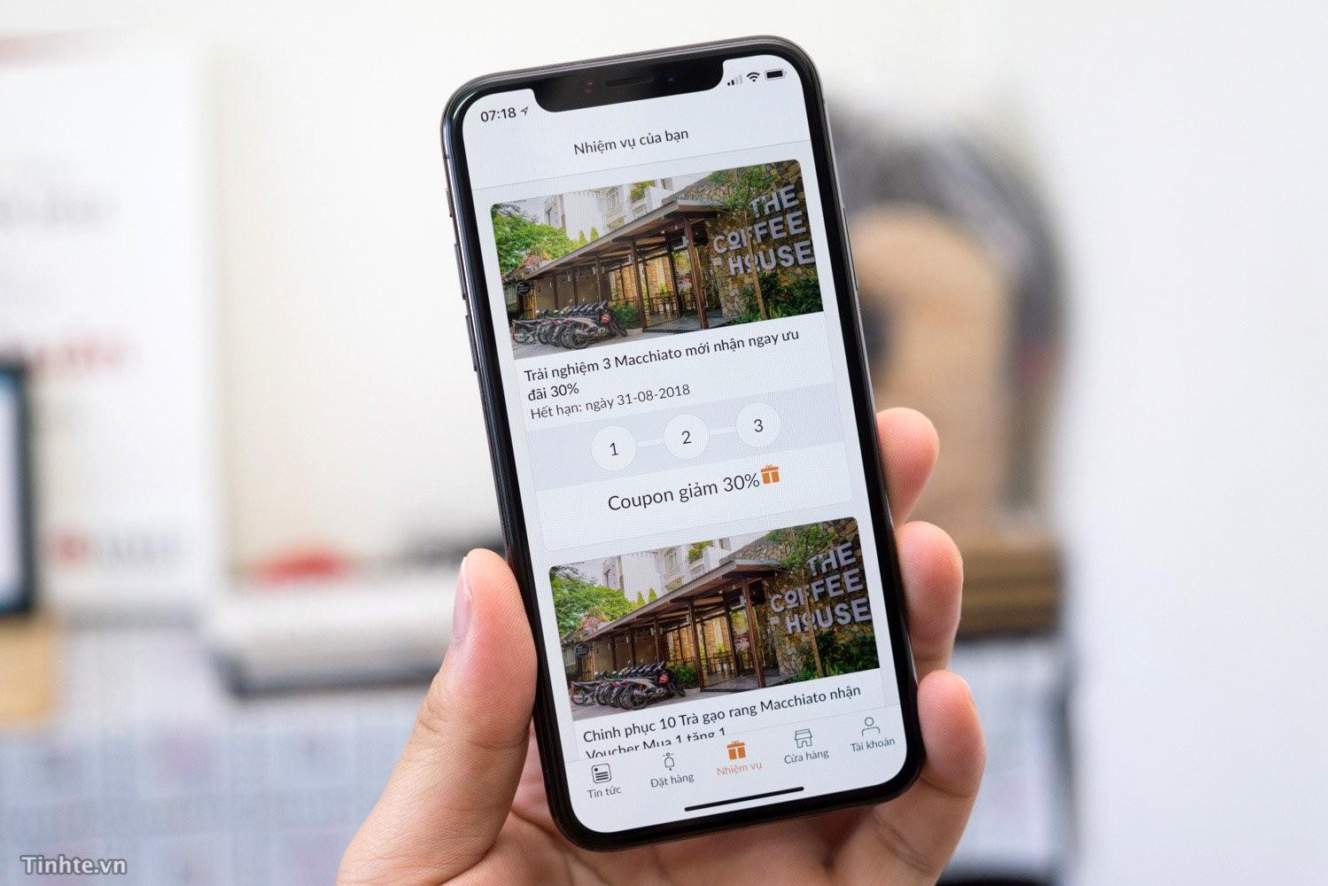 App tích điểm được dùng trên thiết bị di động